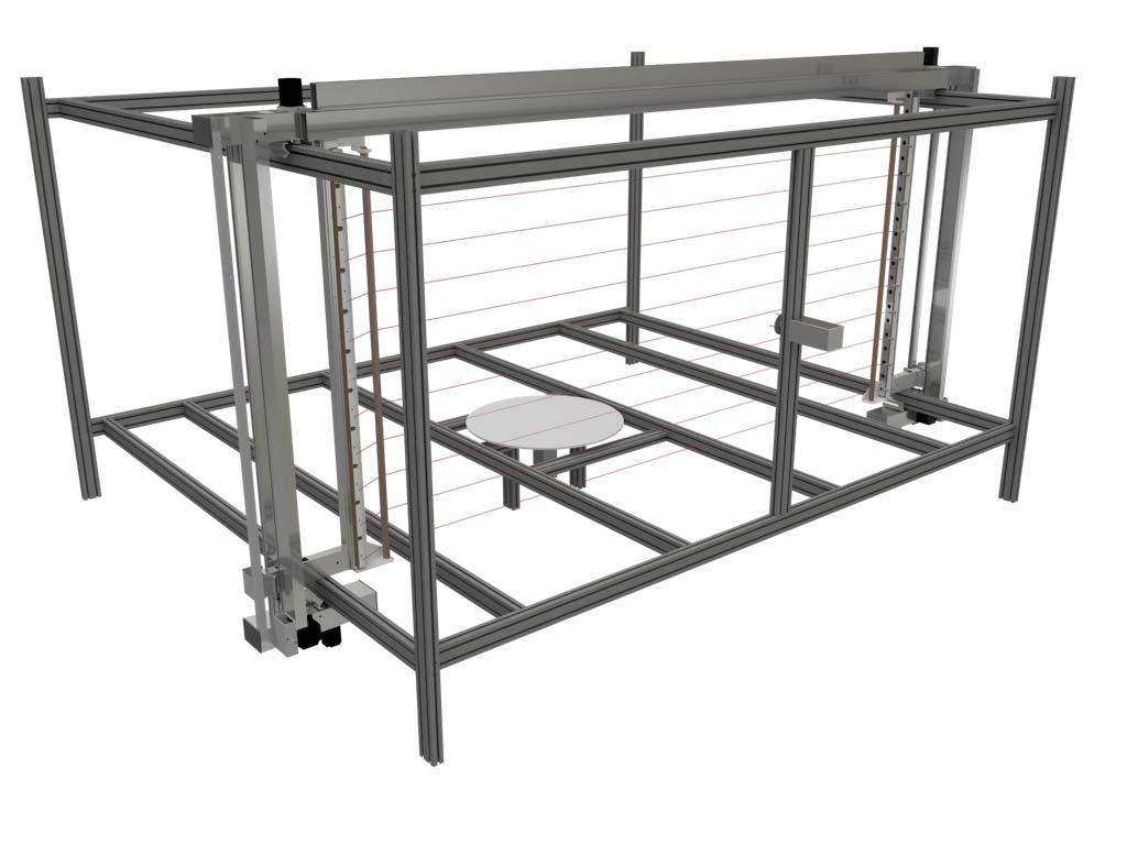 Machine de découpe de polystyrène multi fil chaud