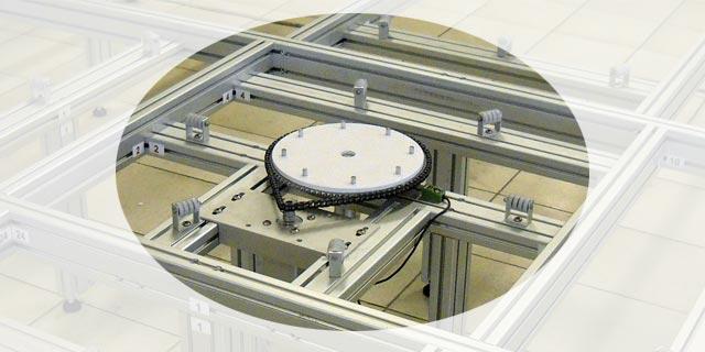 Option plateau tournant pour machine de découpe polystyrène